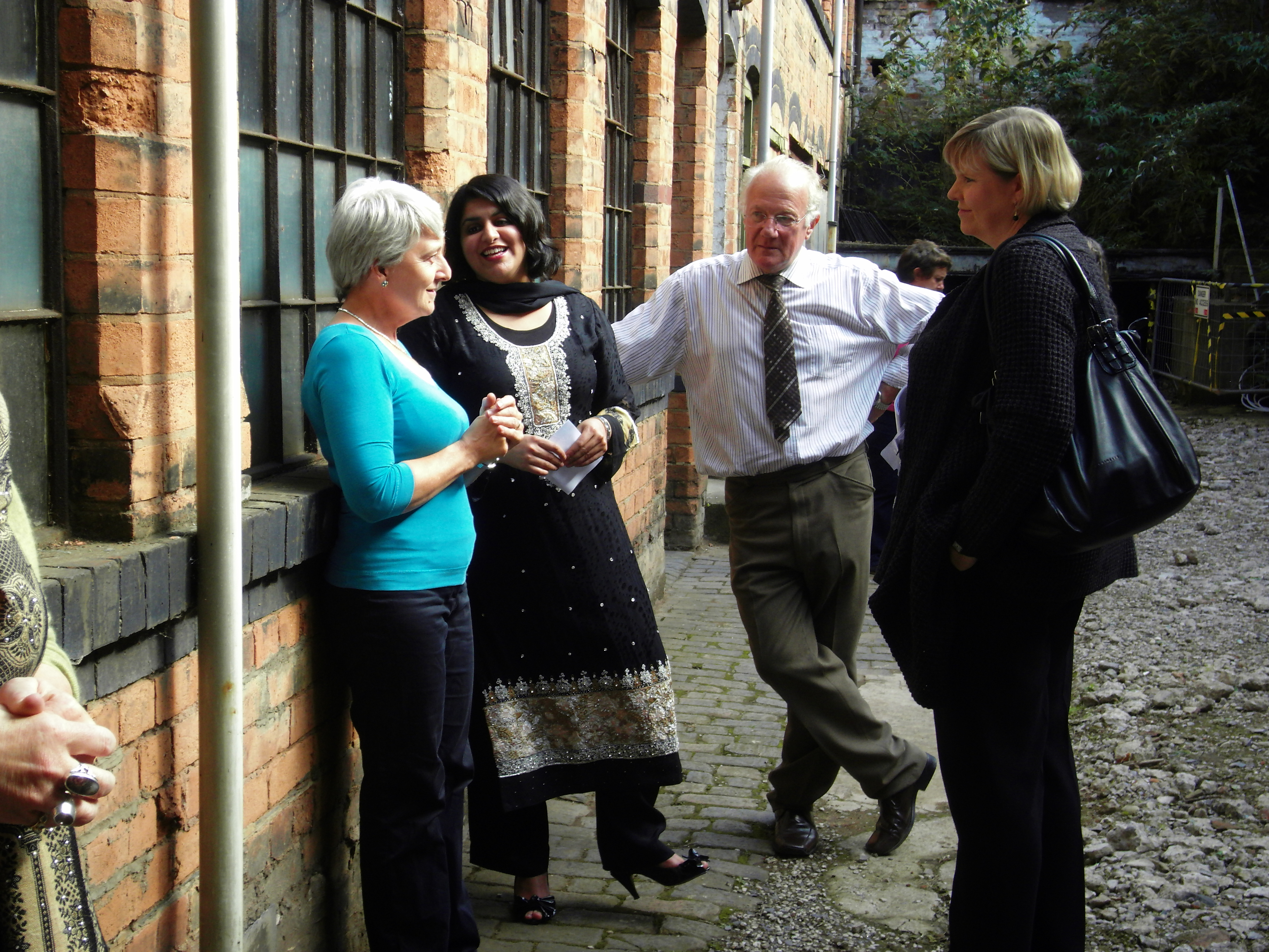 Shabana Mahmood MP with Elizabeth Perkins, BCT Director, Bob Beauchamp, Chairman and Anne Jenkins of Heritage Lottery Fund